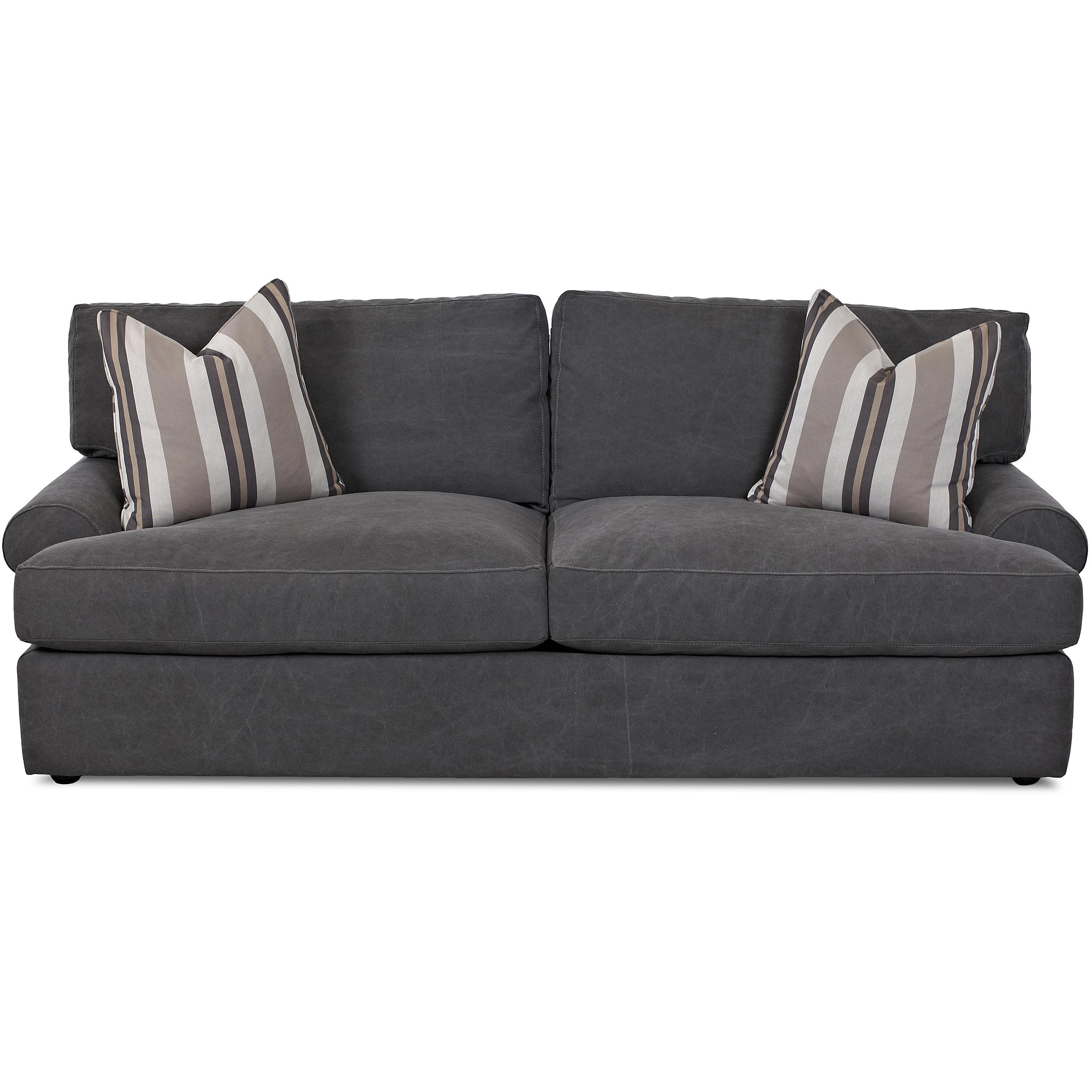 Klaussner Adelyn Contemporary Sofa   Item Number: D42800 S TiddyPewter