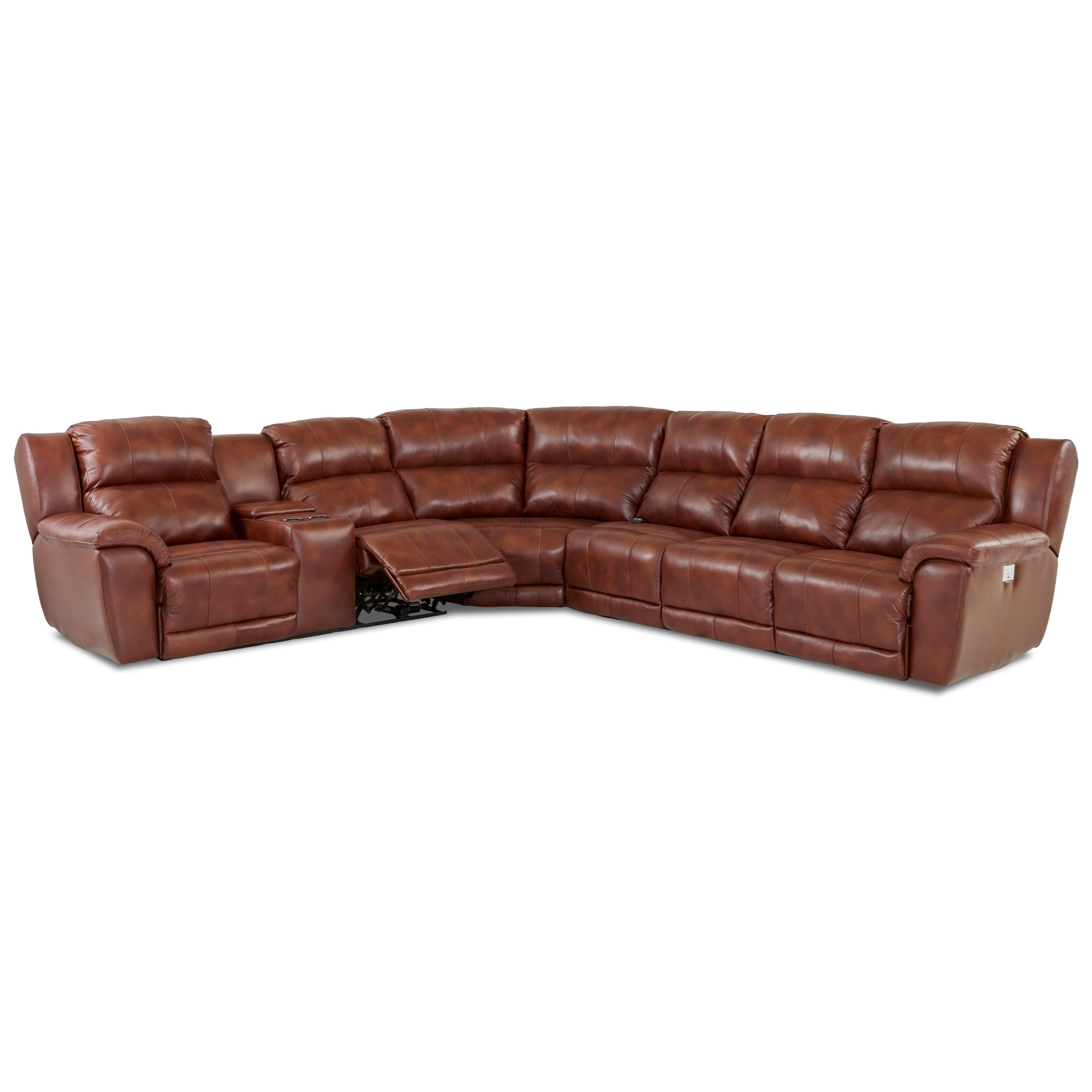 Klaussner Albus Four Piece Power Reclining Sectional Sofa