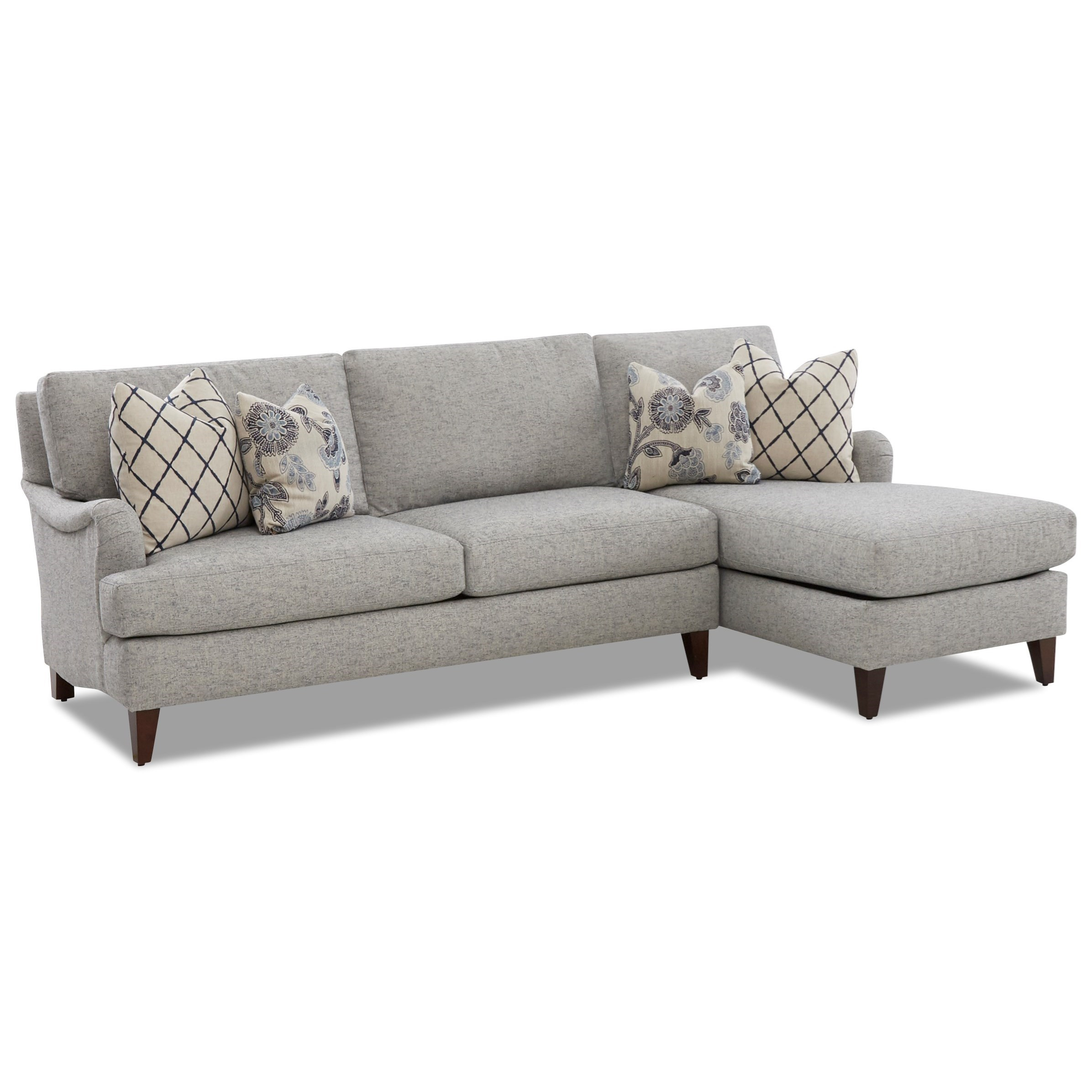 Alden Sofa Chaise by Klaussner at Van Hill Furniture