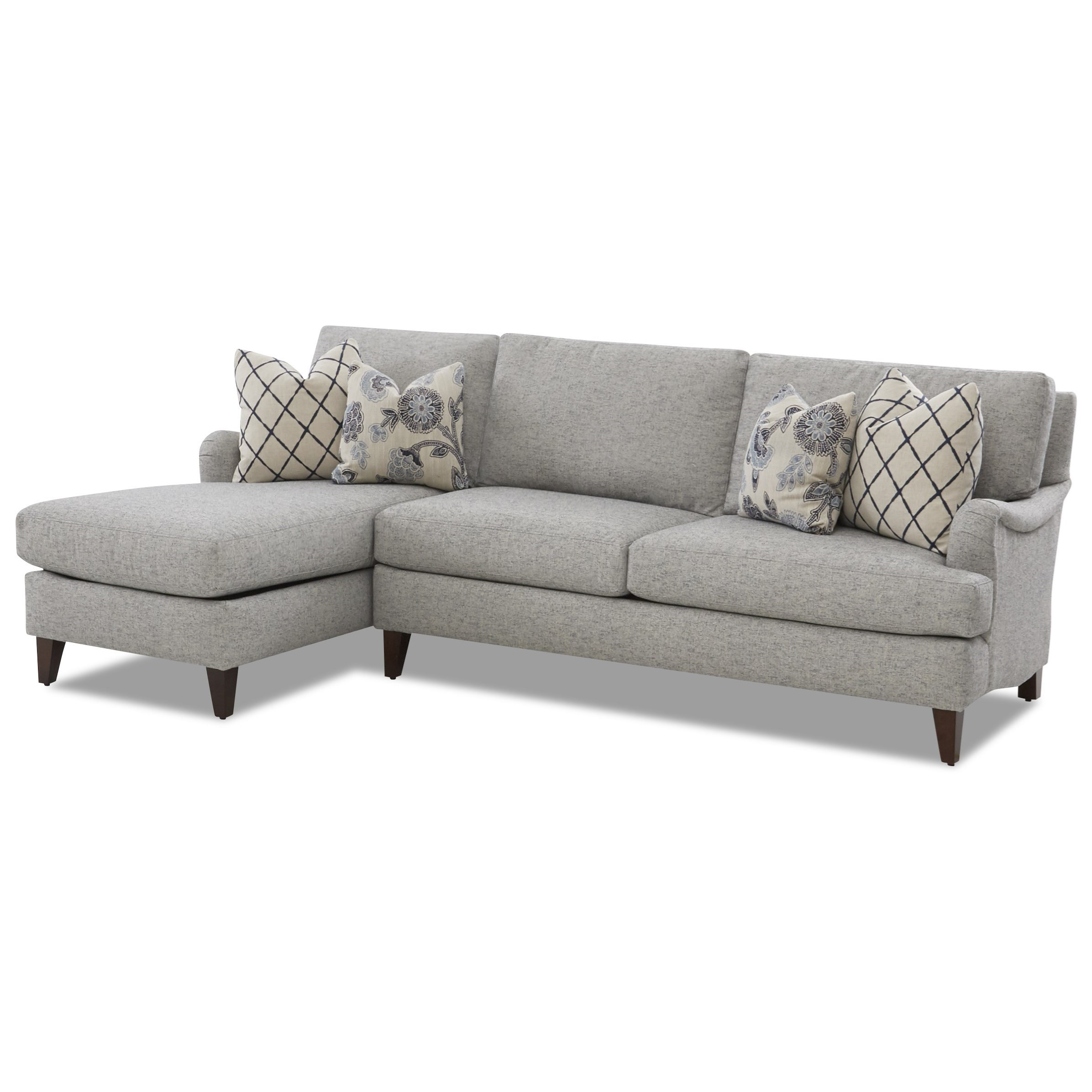 Alden Sofa Chaise by Klaussner at Northeast Factory Direct