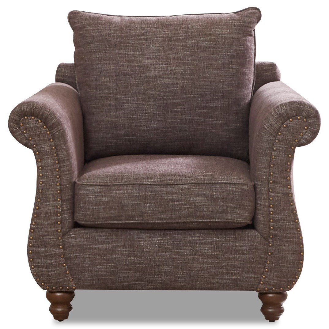 Chair with Nailhead Trim & Kool Gel Cushion