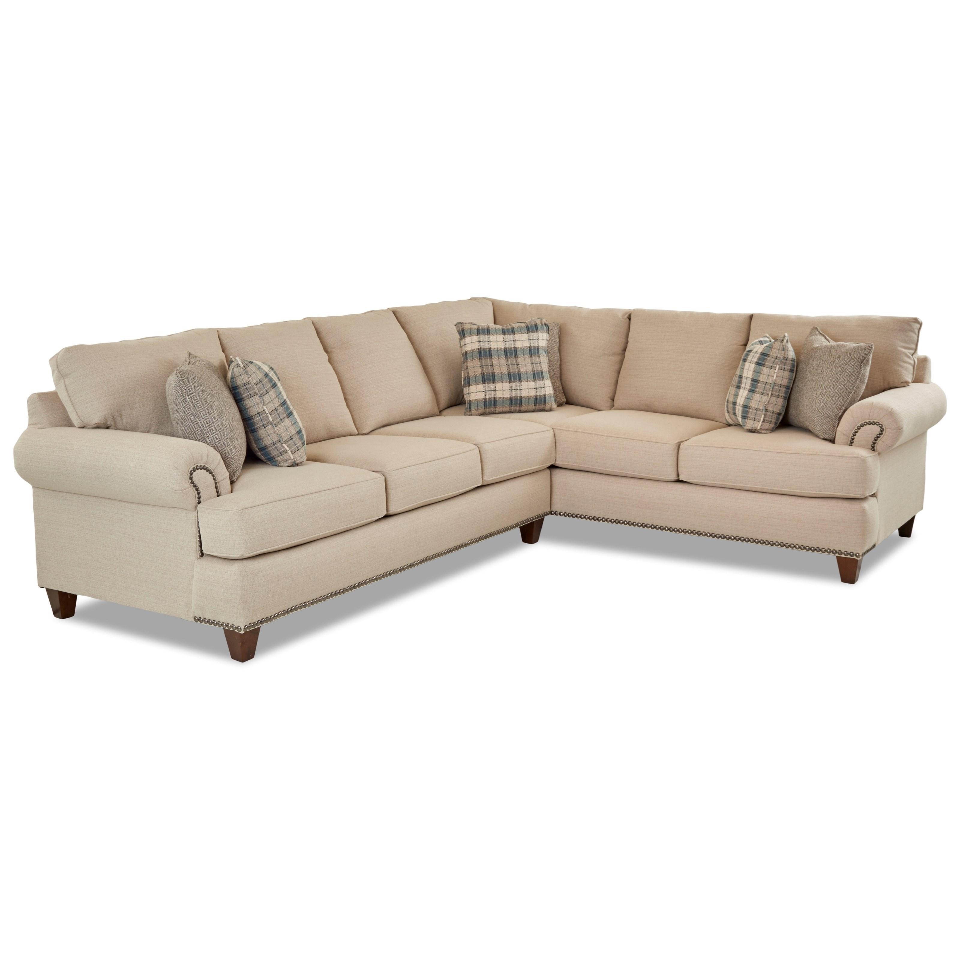 Alexa 2 Pc Sectional Sofa w/ LAF Sofa by Klaussner at Pilgrim Furniture City