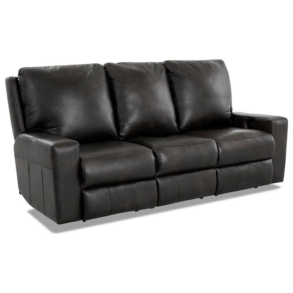 Alliser Power Reclining Sofa by Klaussner at Pilgrim Furniture City