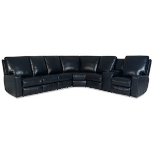 Power Reclining Sectional w/ Pwr Headrests