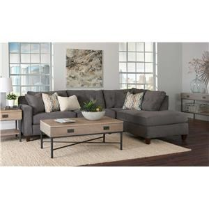 Simple Elegance Aluna 2PC Sectional Sofa