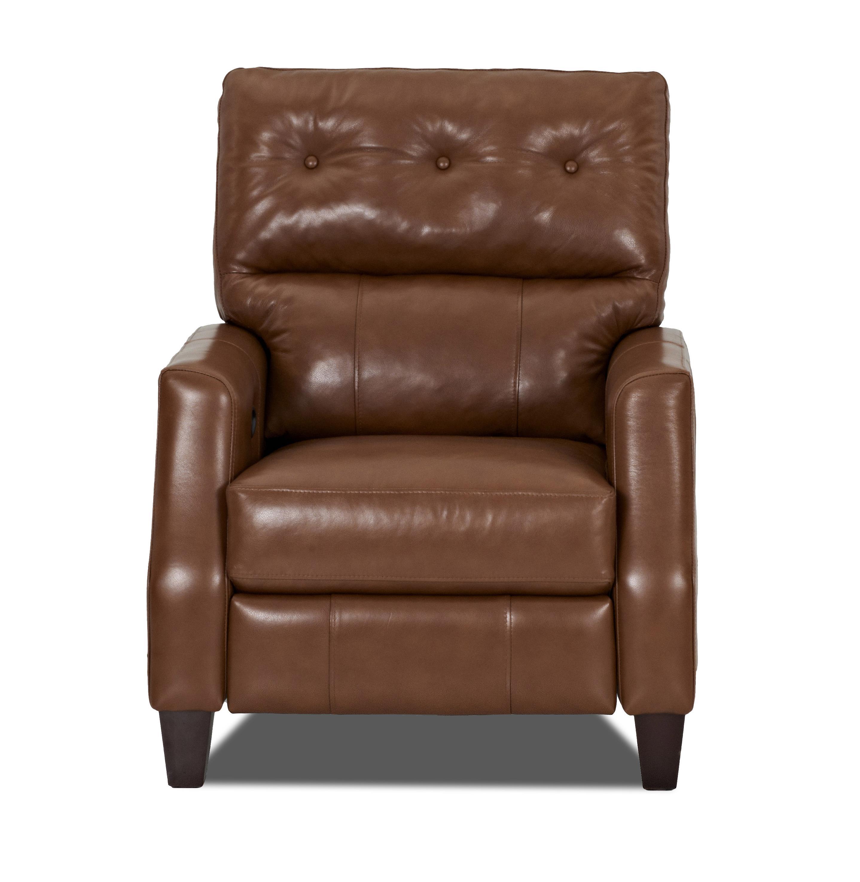 Klaussner Amesbury  Power High Leg Reclining Chair - Item Number: LT51708 PHLRC-DurangoAcorn