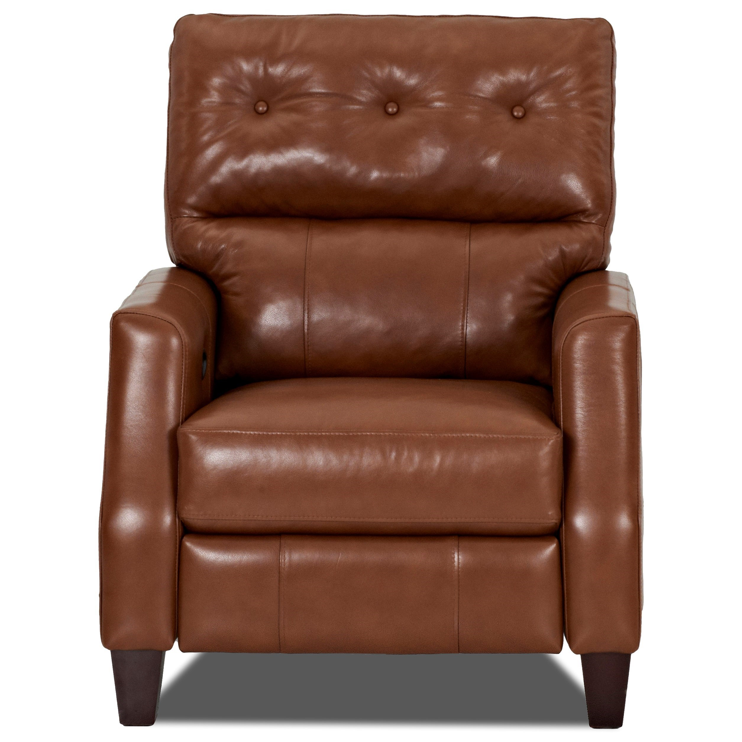 Klaussner Amesbury  Power High Leg Reclining Chair - Item Number: LV51708 PHLRC-DurangoAcorn