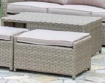 Elliston Place Aragon Aragon 2-Piece Cocktail Table and Ottoman