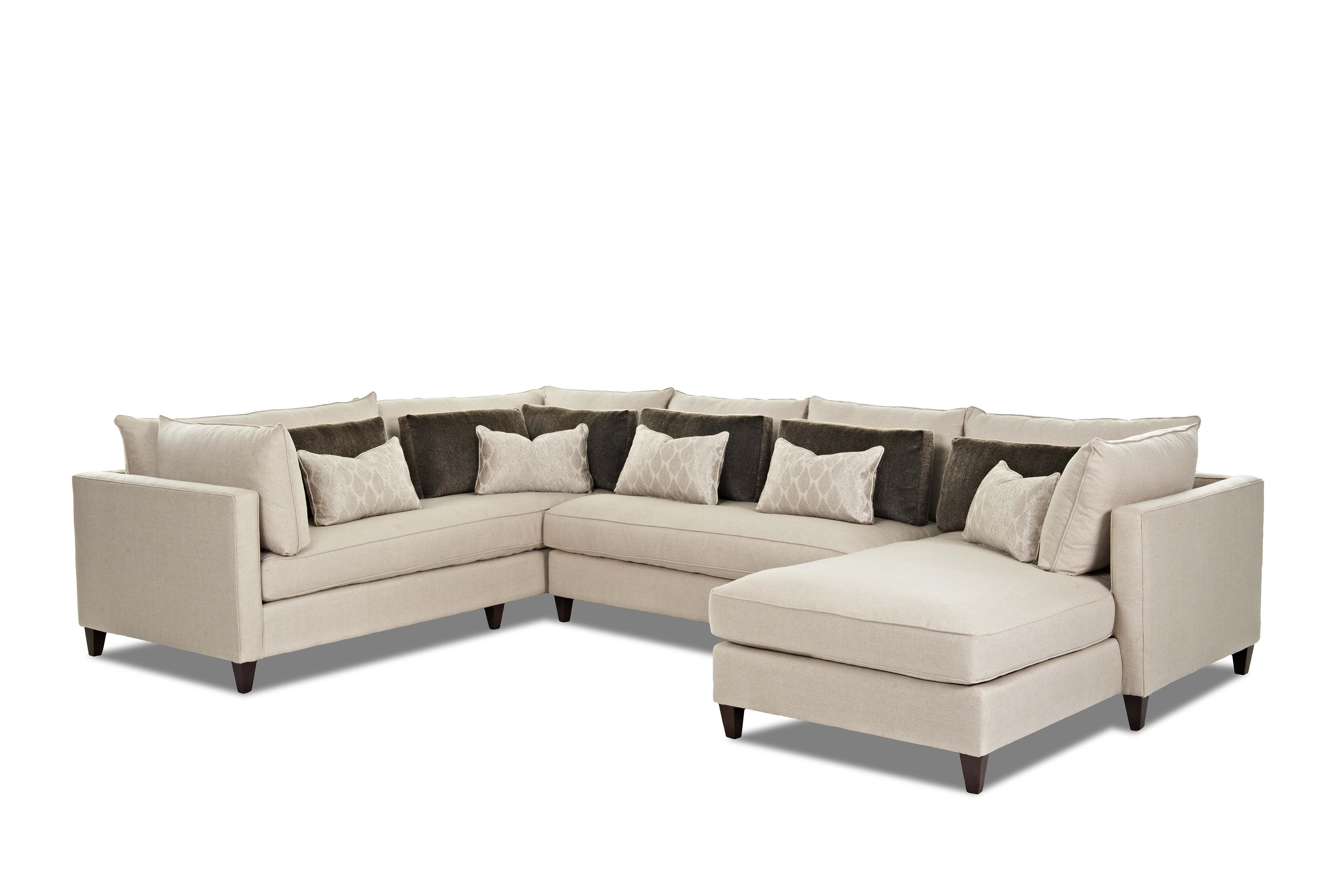 Klaussner Arianna Sofa Sectional - Item Number: D92600R CHASE+Als+S-TRIL-LINE