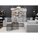 Klaussner Arnell 4-Seat Sectional Sofa - Item Number: D33900 CRNXL+2XACXL+2XCRNXL-MAREK F