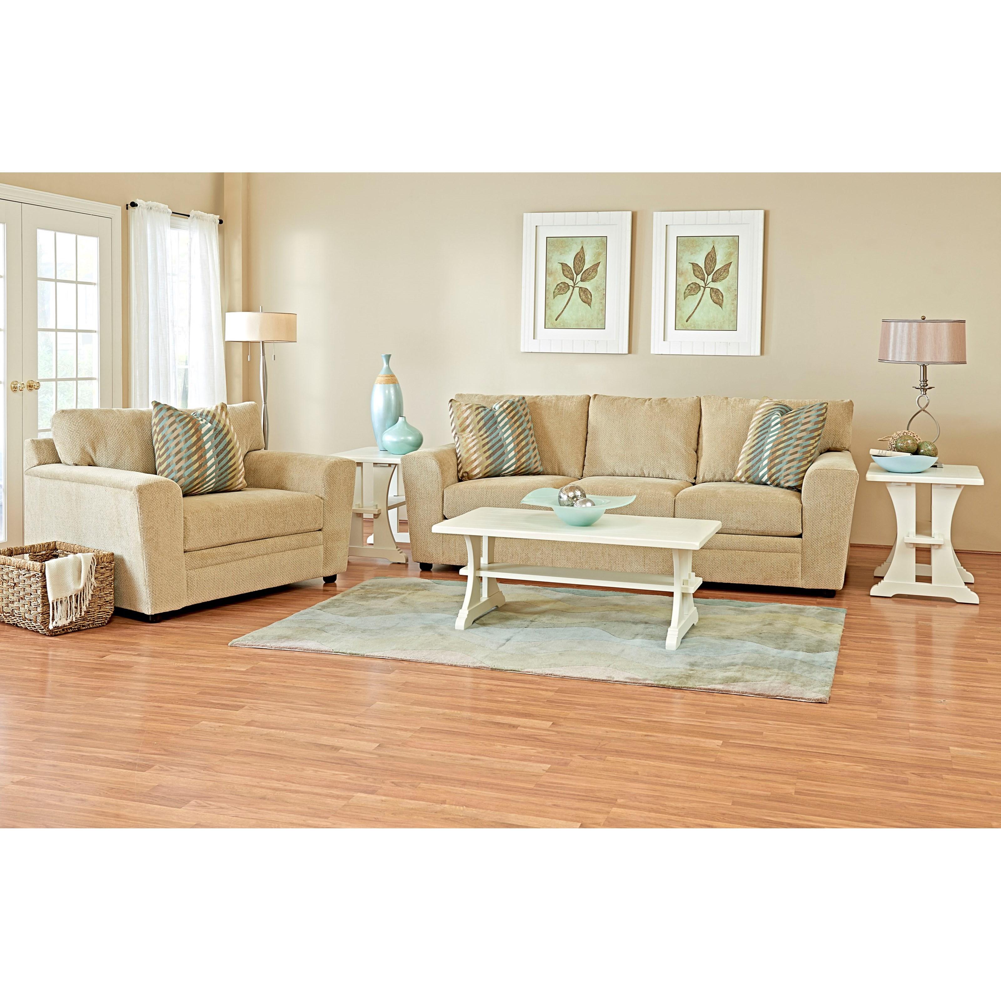 Klaussner Ashburn Living Room Group - Item Number: K67400 Living Room Group 1