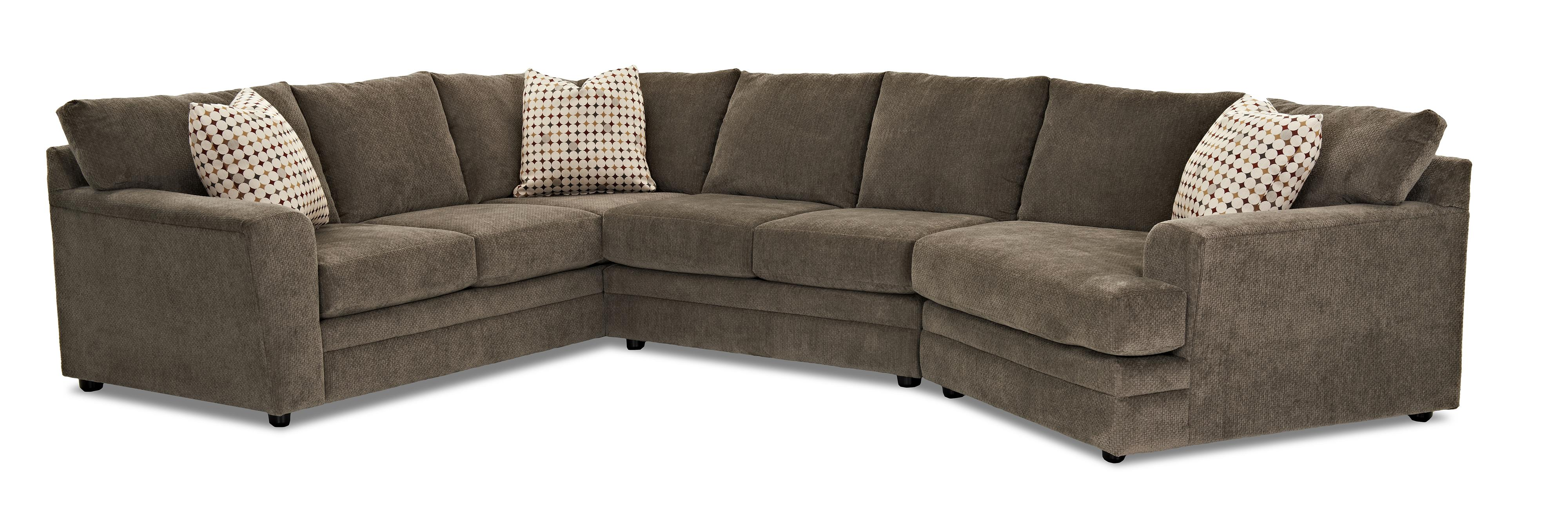 Klaussner Ashburn Casual Sectional Sofa Group Olinde s Furniture