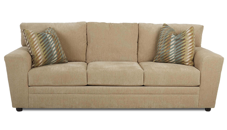 Klaussner Ashburn Dreamquest Queen Sleeper Sofa - Item Number: K67400 DQSL-SorrentoParchment
