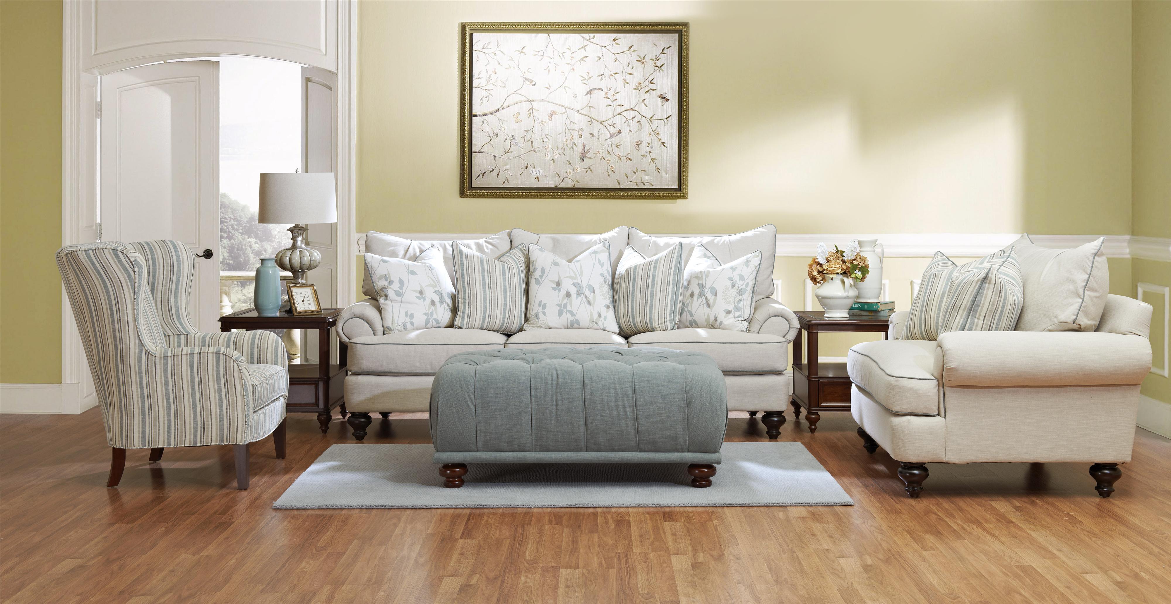 Klaussner ashworth d95200 stationary living room group for Klaus k living room brunssi