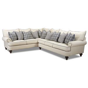 Klaussner Ashworth Shabby Chic Sectional Sofa