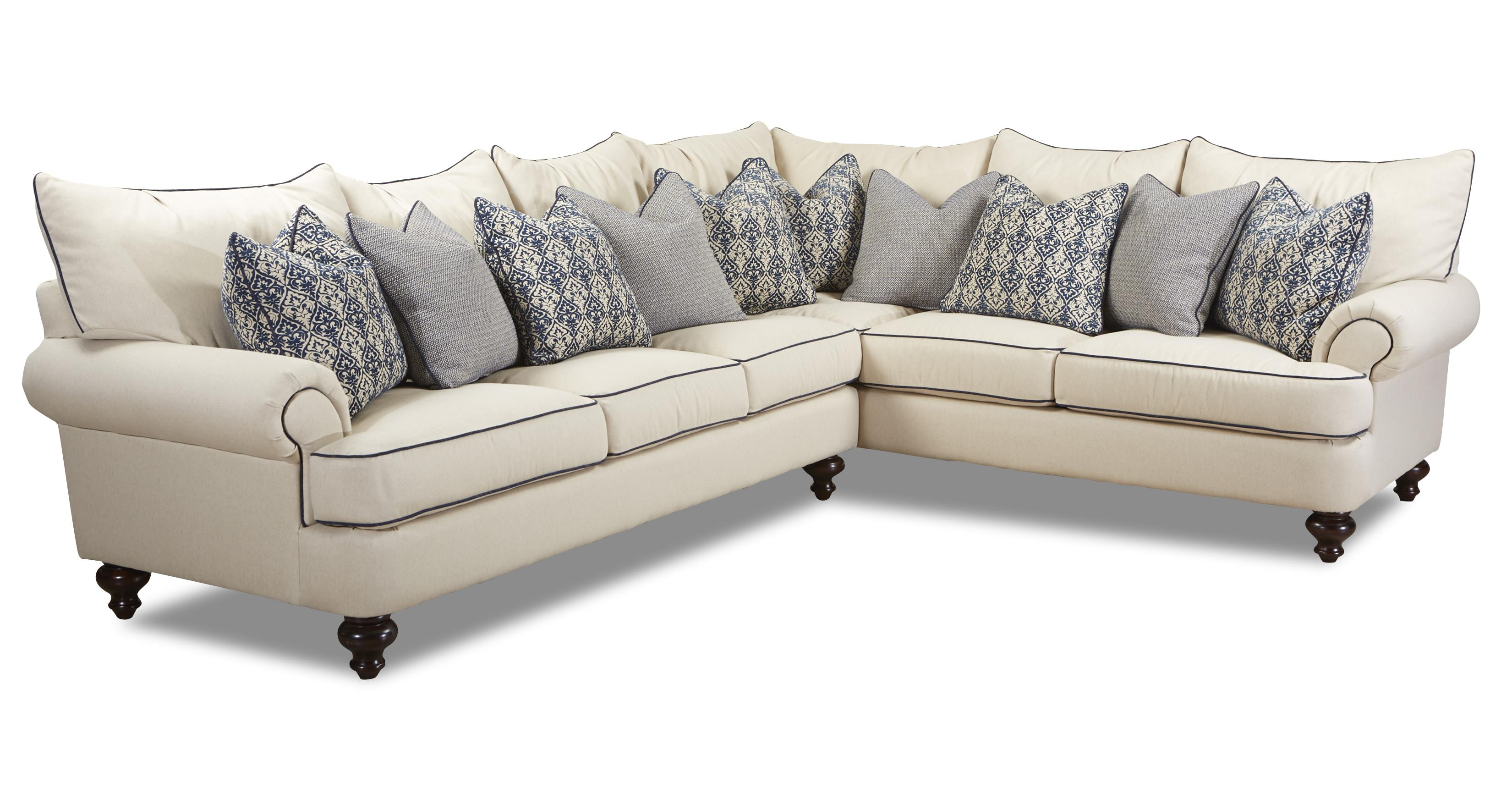 Klaussner Ashworth Shabby Chic Sectional Sofa Olinde 39 S Furniture Sofa Sectional