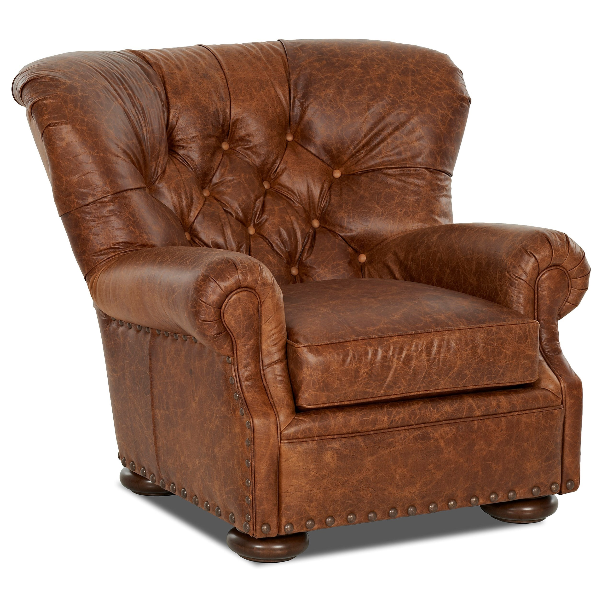 Klaussner Aspen Chair - Item Number: LD39910 C-CHAPS SADDLE
