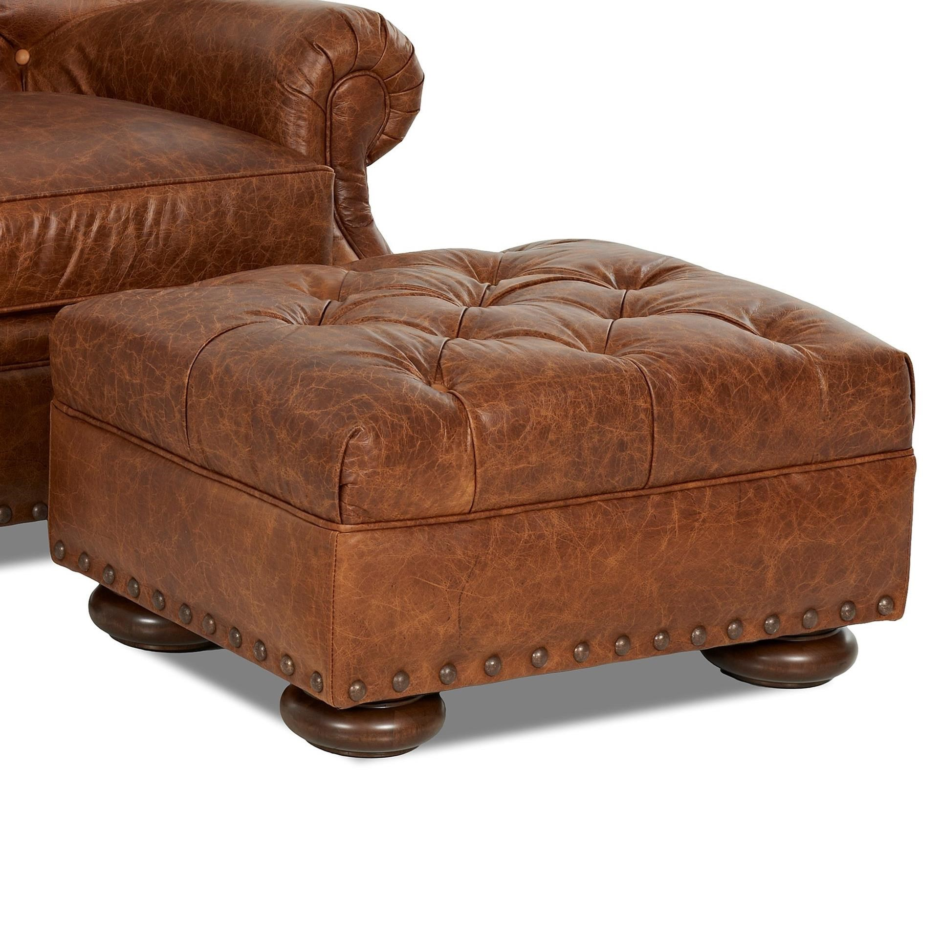 Klaussner Aspen Ottoman - Item Number: LD39910 OTTO-CHAPS SADDLE