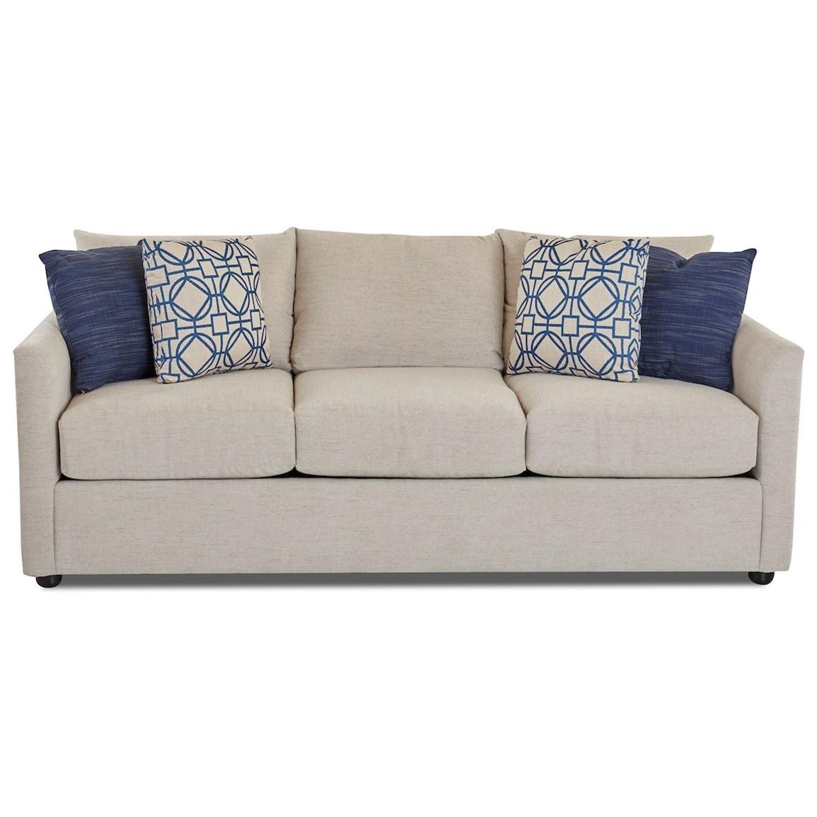 Atlanta Sleeper Sofa w/ Dreamquest Mattress by Klaussner at Johnny Janosik