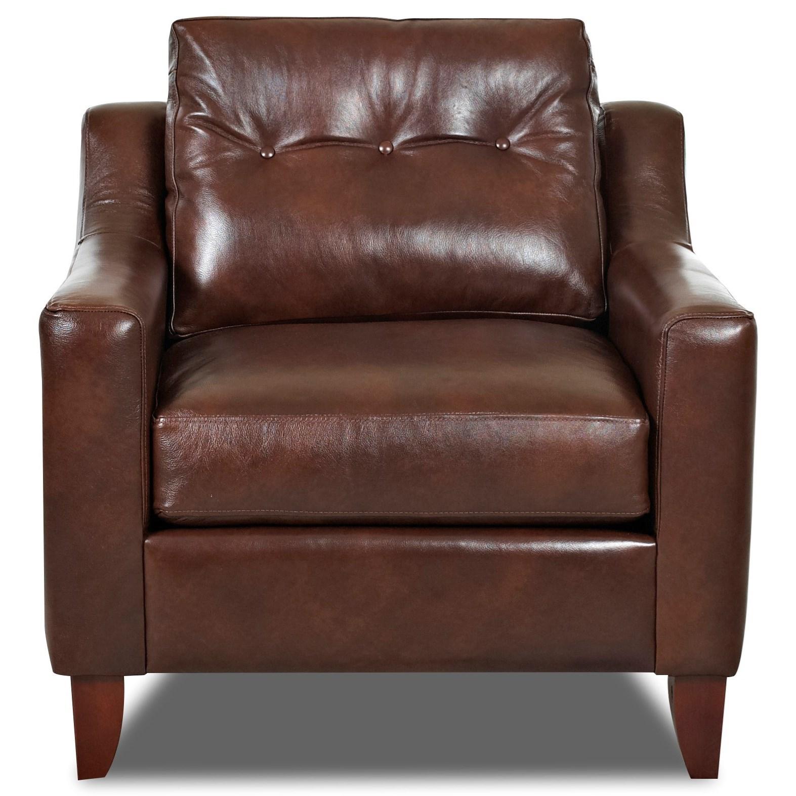 Klaussner Audrina Chair - Item Number: K31600 C-ASPEN WALNUT