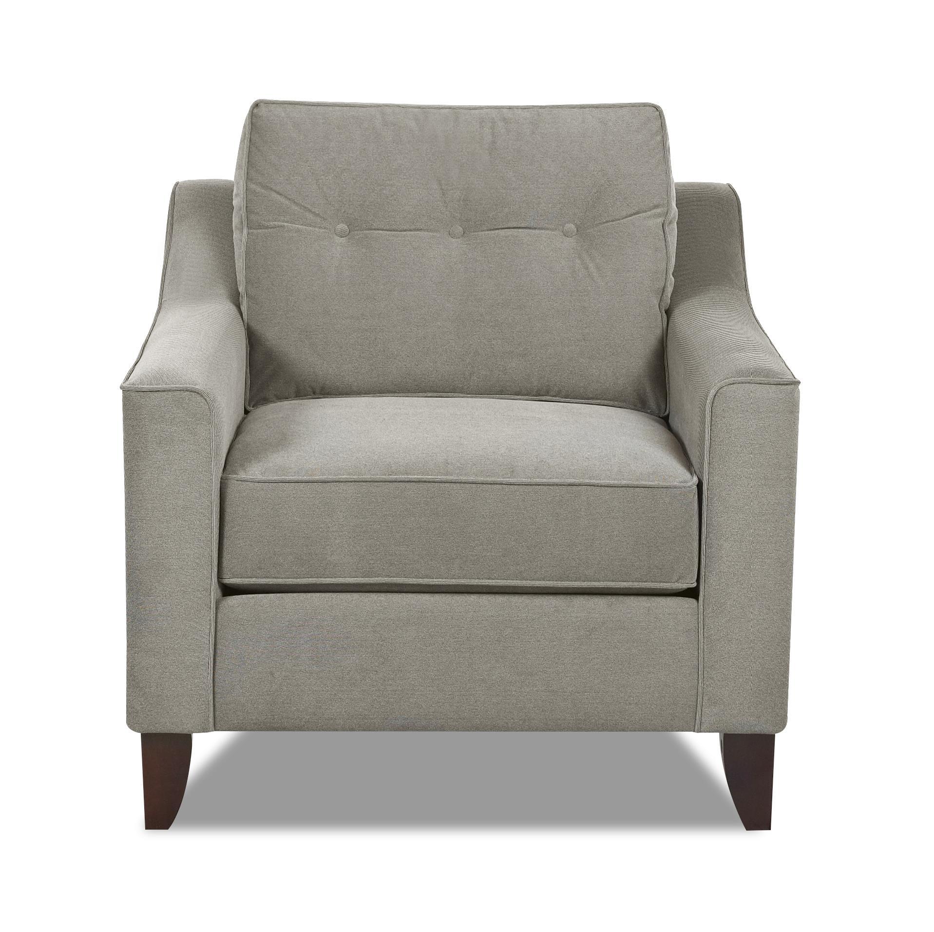 Klaussner Audrina Chair - Item Number: K31600 C-AttireBattleship