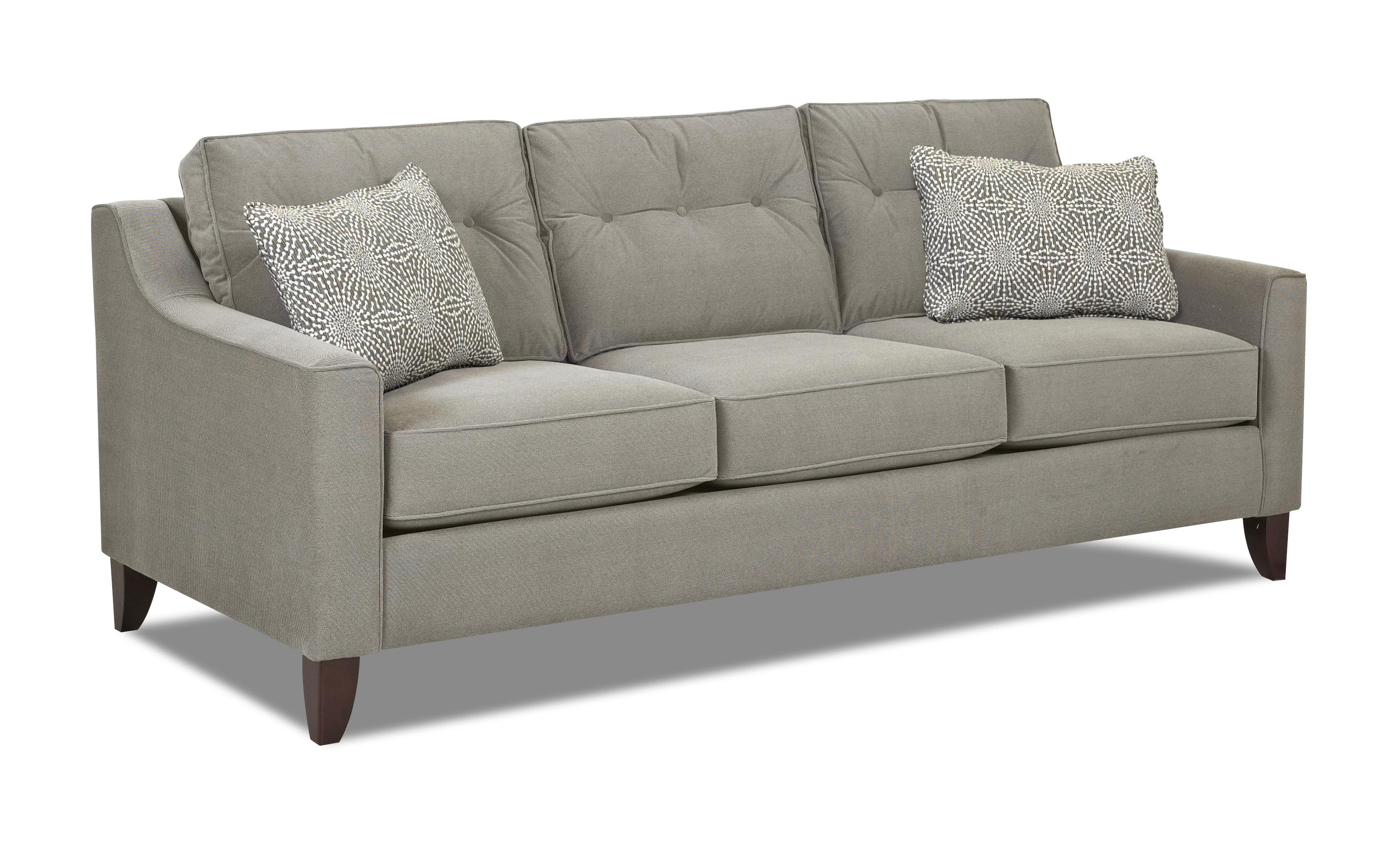 Klaussner Audrina Mid Century Modern Style Sofa with Tufted