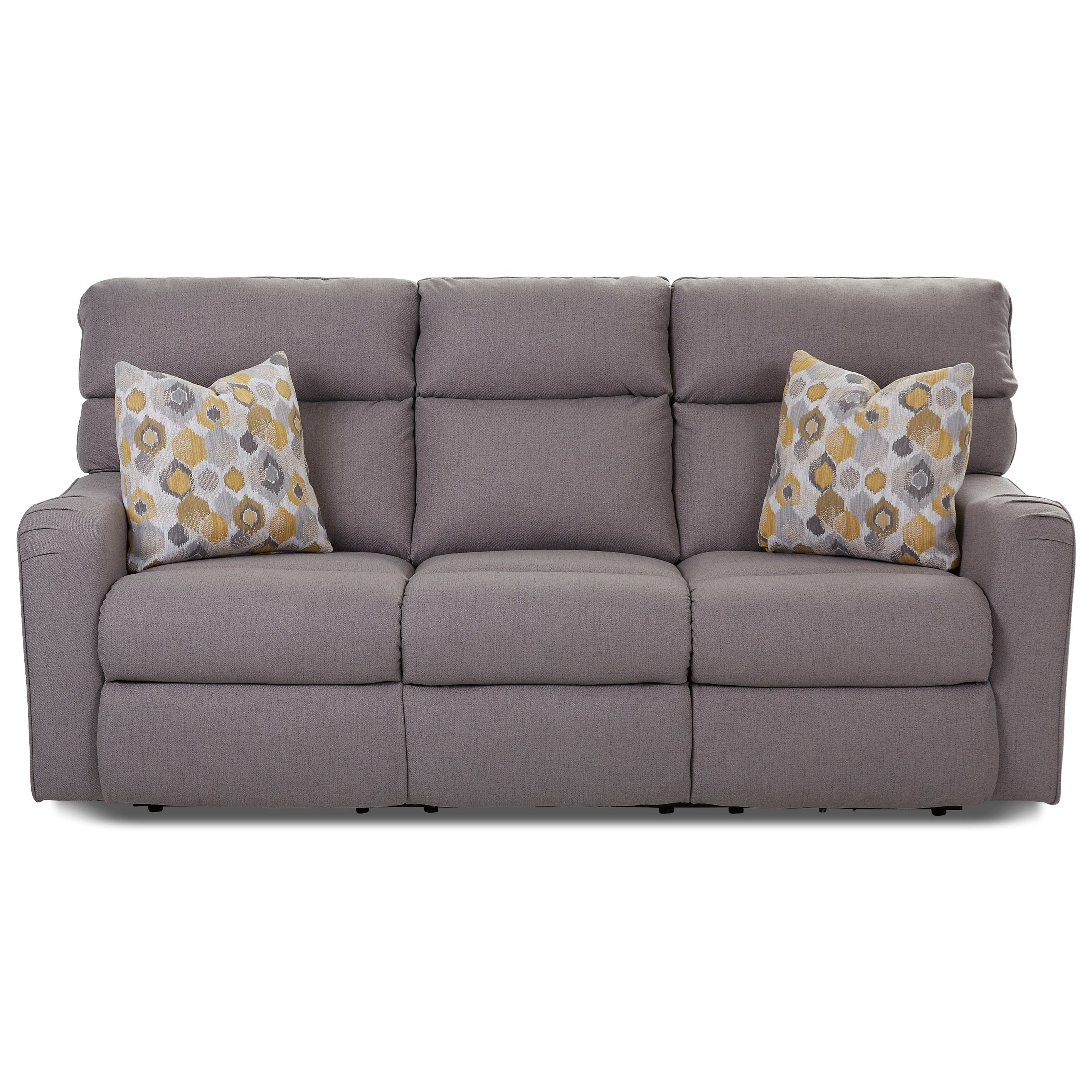 Klaussner Axis 25803 Power Reclining Sofa With Throw Pillows Wayside Furniture Reclining Sofas
