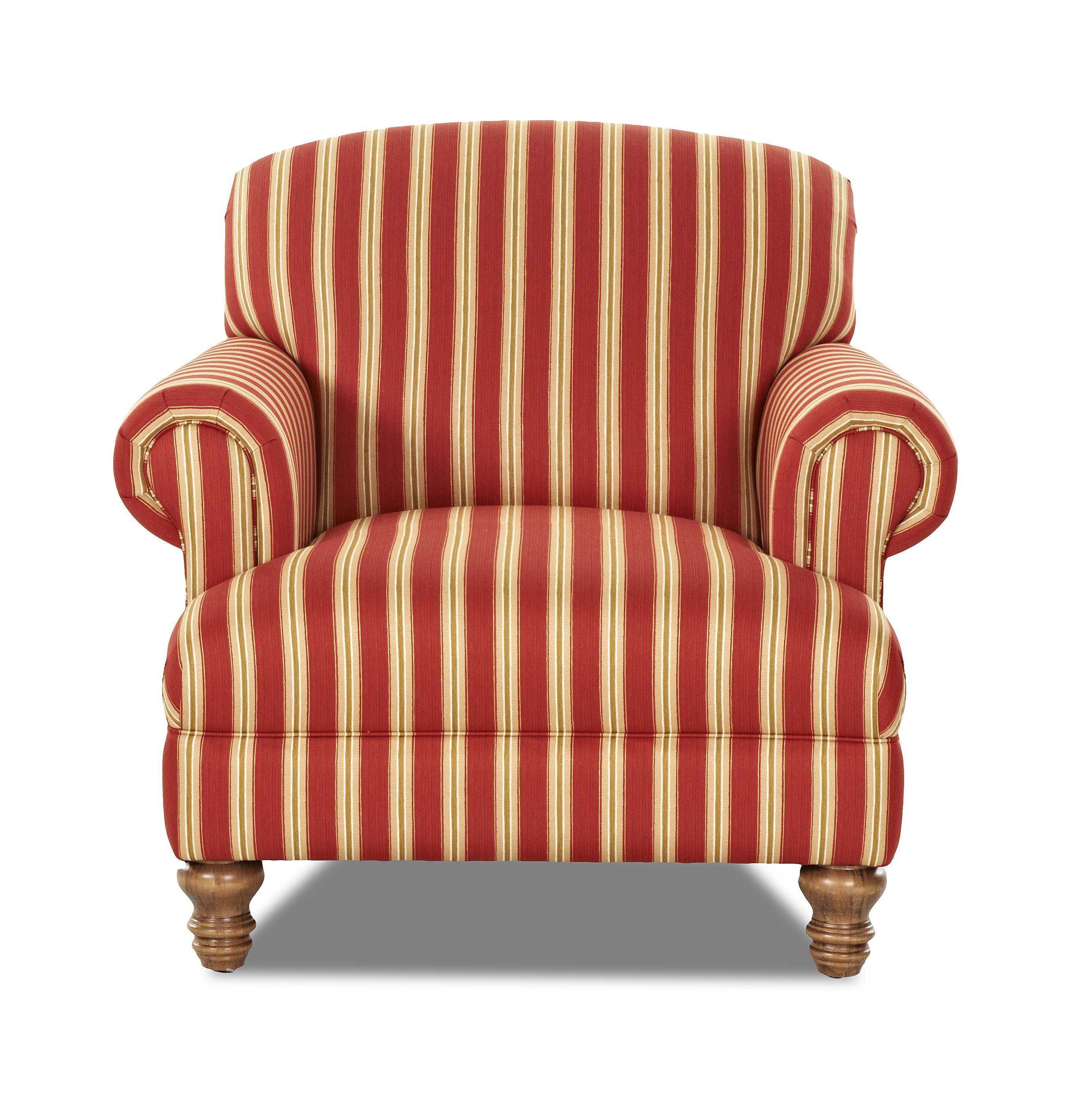 Klaussner Bailey Chair - Item Number: 2440 C-PicketRed