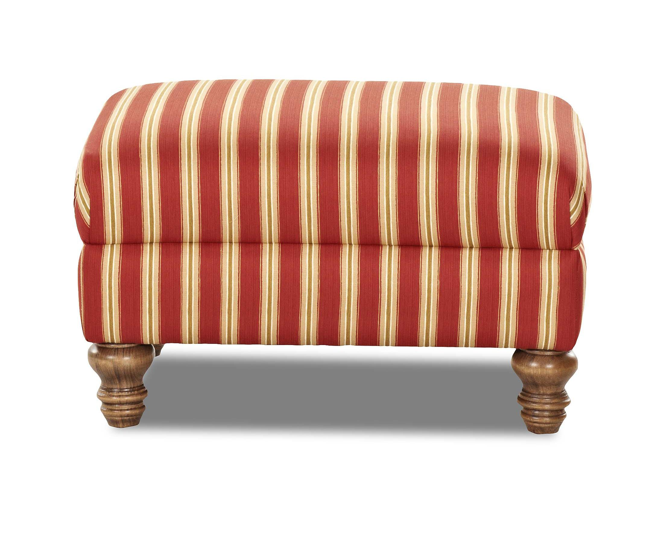 Klaussner Bailey Ottoman - Item Number: 2440 OTTO-PicketRed