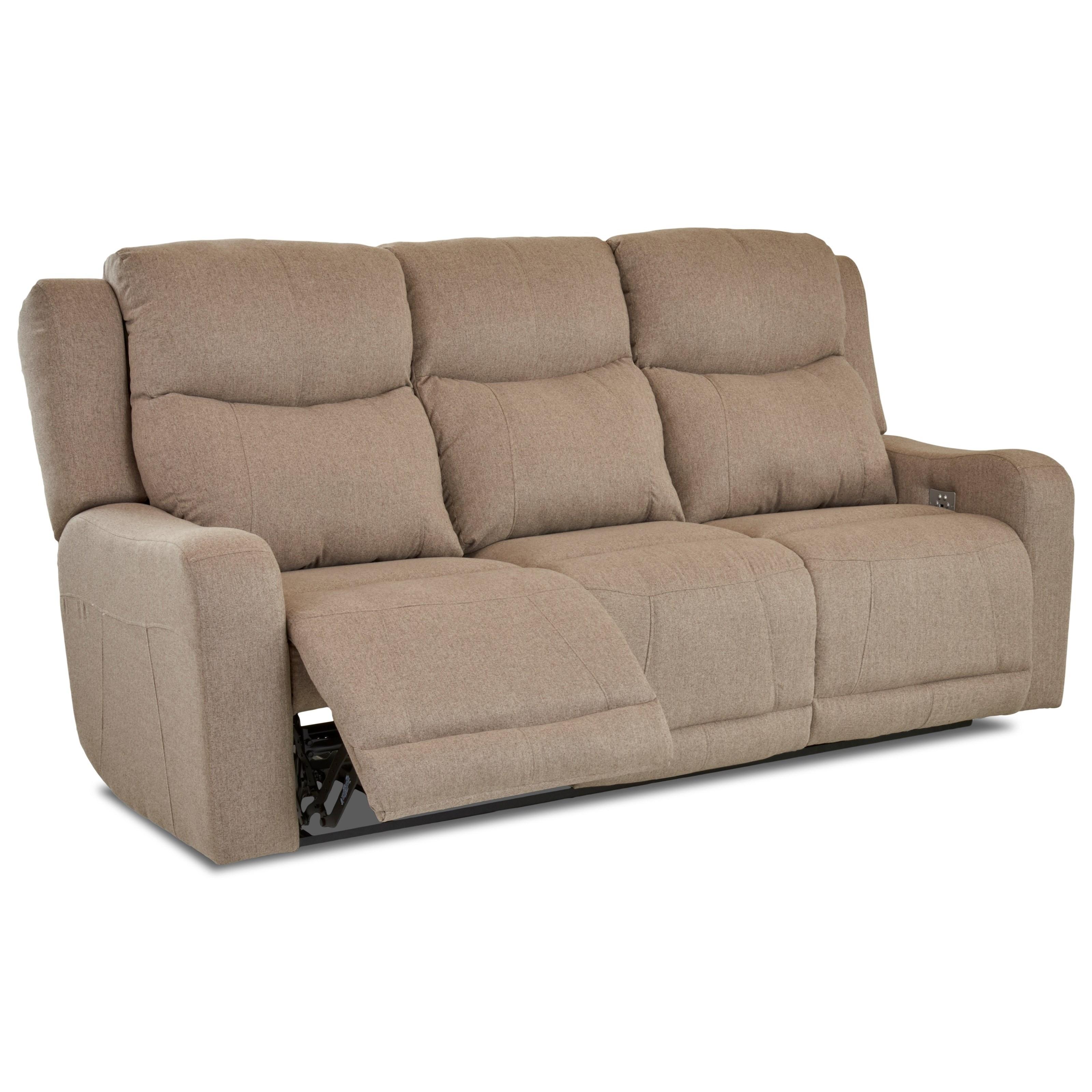 Klaussner Barnett Power Reclining Sofa With Power Headrest