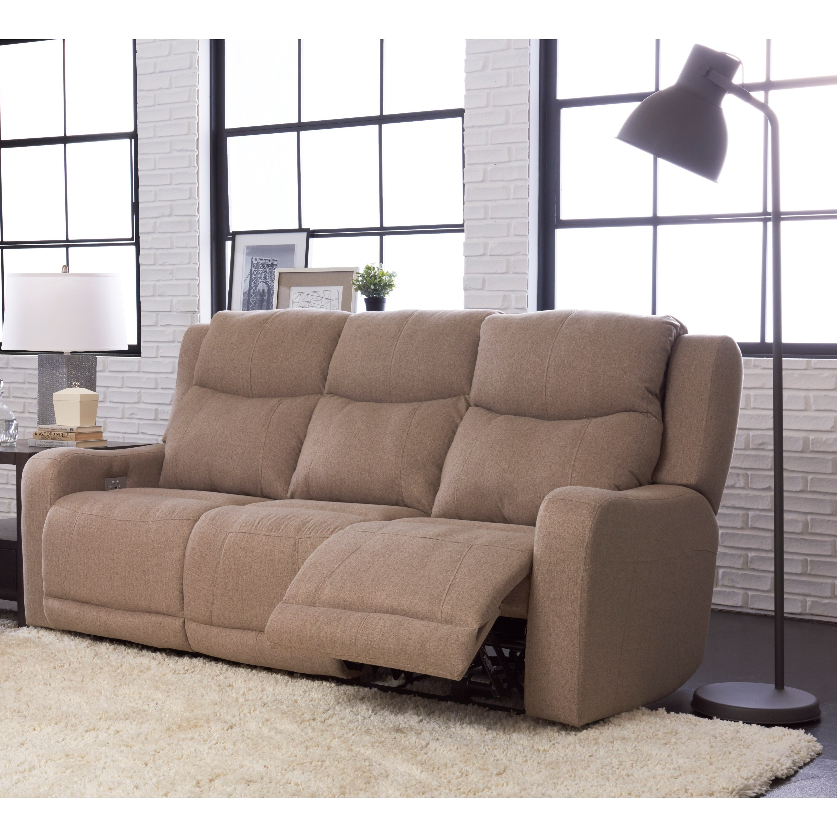 Klaussner Barnett Power Reclining Sofa With Power Headrest
