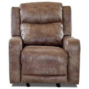 Klaussner Barnett Pwr Rocking Recliner w/ Pwr Head and Lumbar