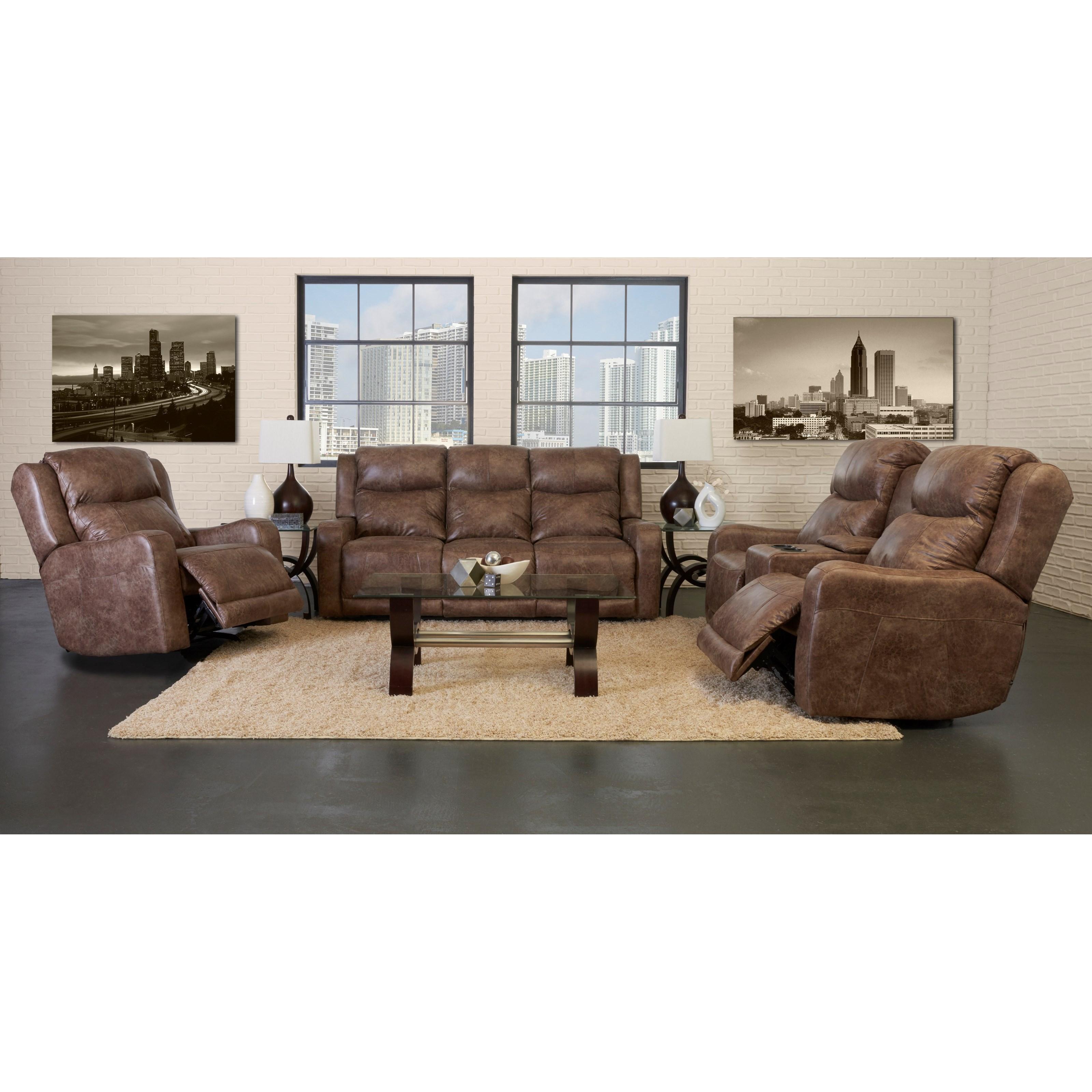 Klaussner Barnett Power Reclining Sofa With