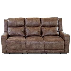 Klaussner Barnett Power Reclining Sofa w/ Pwr Headr and Lumbar