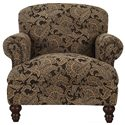 Klaussner Barnum Traditional Upholstered Chair - Shown in Alternative Fabric