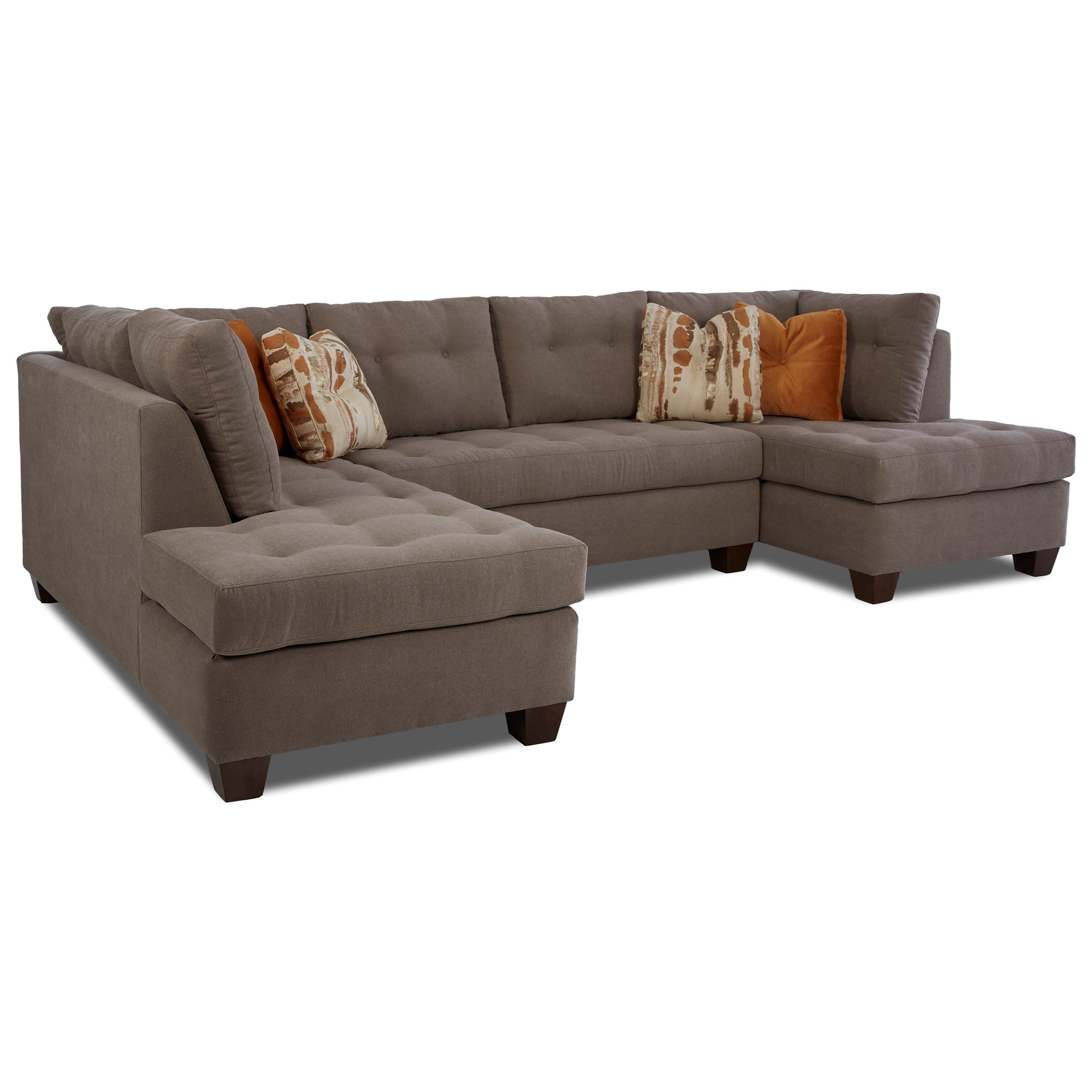 Klaussner Barton 3-Piece Sectional - Item Number: K39400-LSCHS+ALS+RCHASE