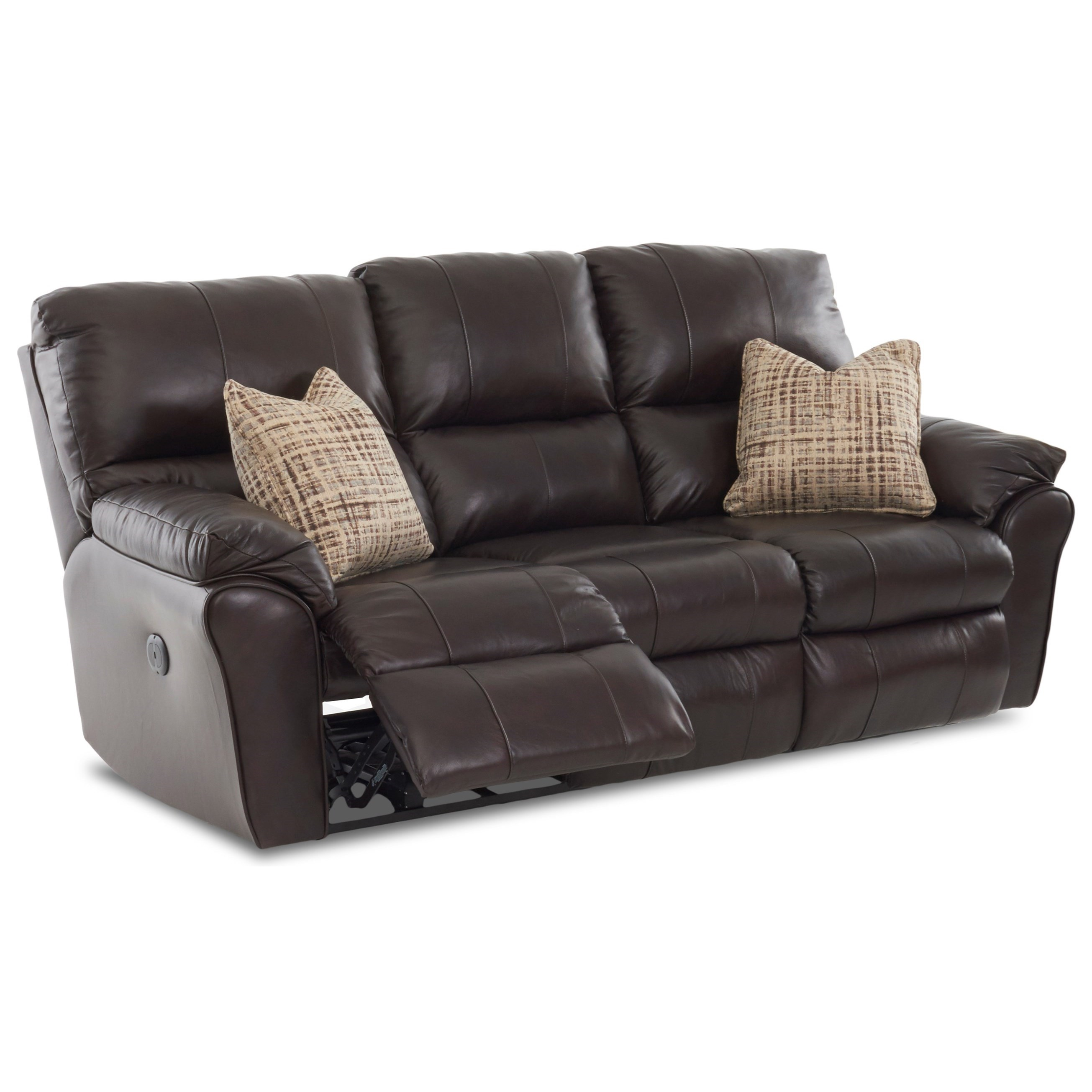 Bateman Leather Armchair: Klaussner Bateman Casual Reclining Sofa With 2 Power