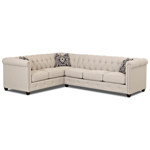 2-Piece Sectional with Nailhead Trim