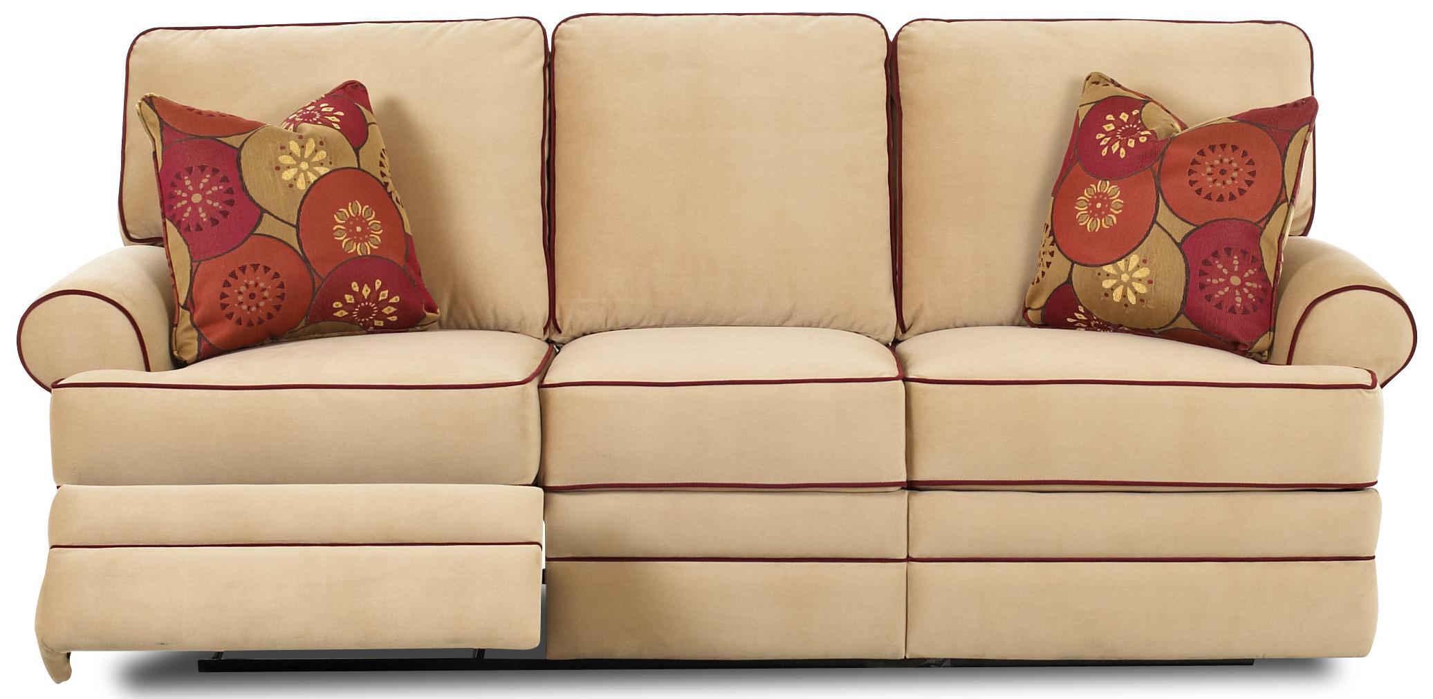 Klaussner Belleview Transitional Dual Reclining Sofa Johnny Janosik Reclining Sofas