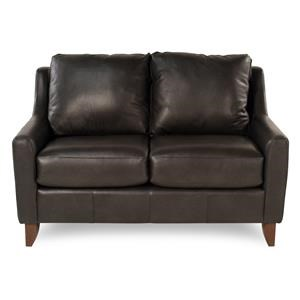 Casual Leather Loveseat