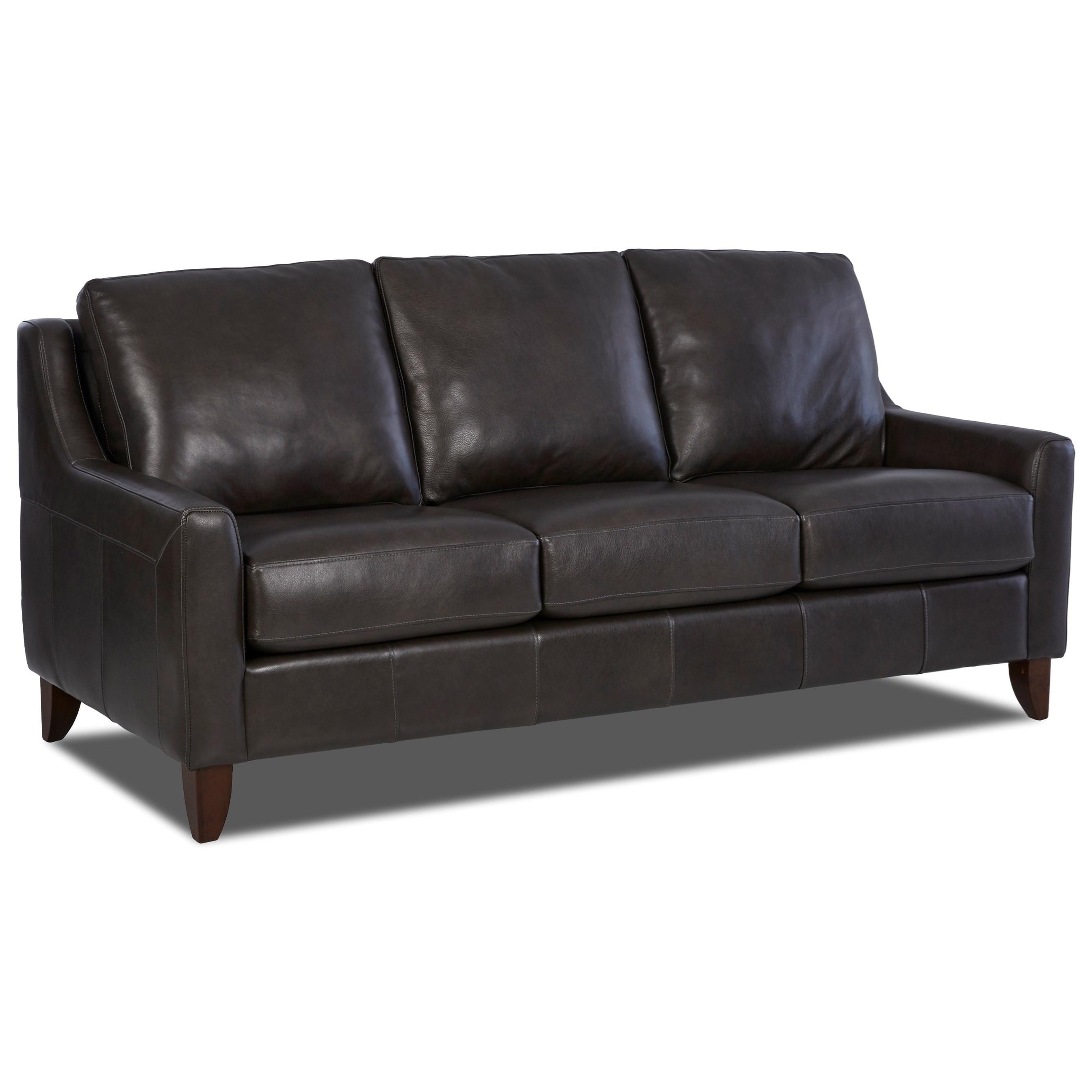 Metropia Bryan Leather Sofa Ruby Gordon Furniture Mattresses Sofas