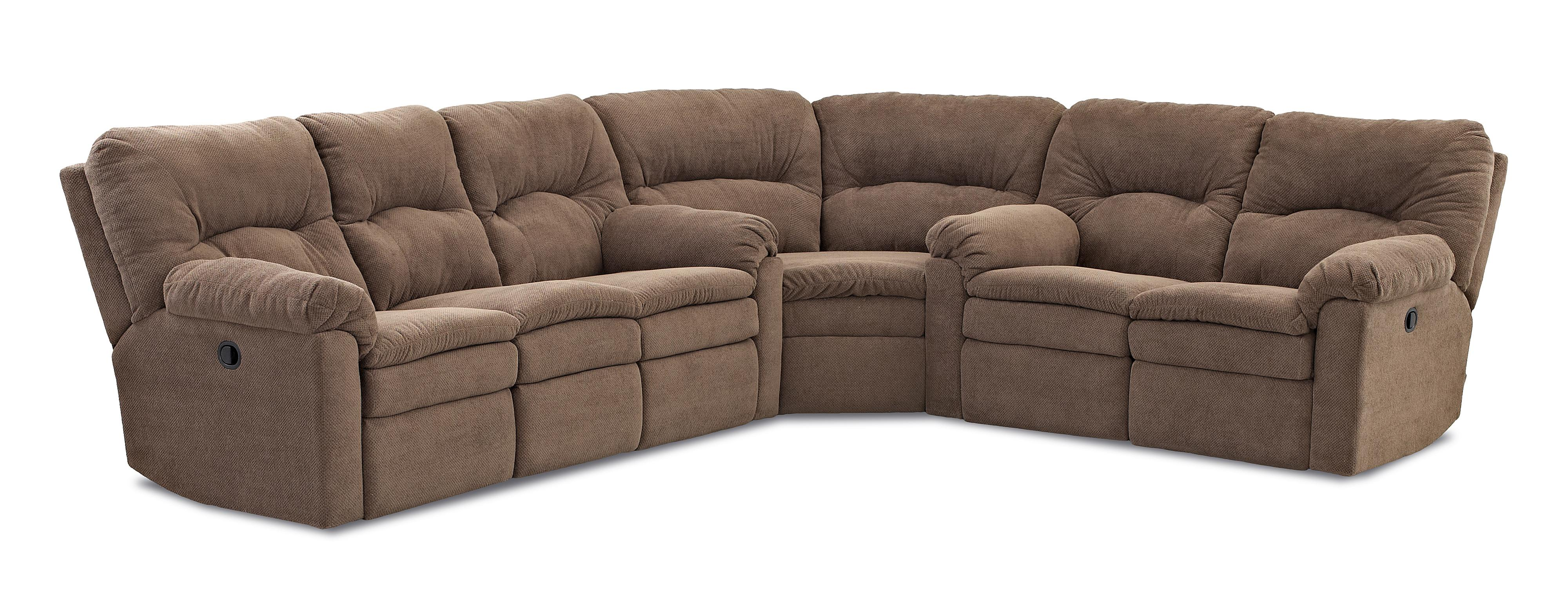 Klaussner Bennington Casual 3 Piece Power Reclining Sectional Sof - Item Number: 40703 PWRS+90SEW+PWRLS