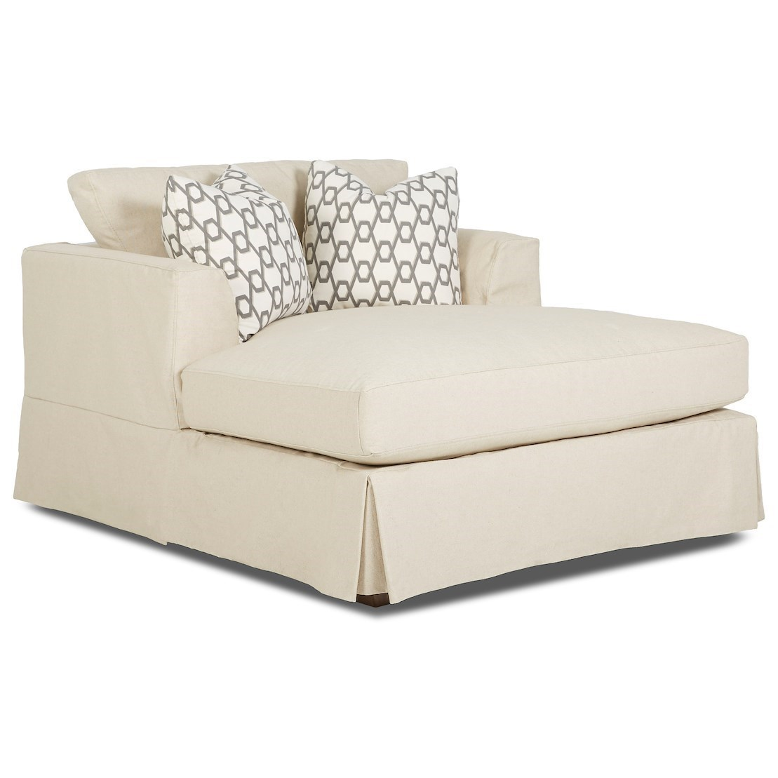 Bentley Slipcover Chaise by Klaussner at Value City Furniture
