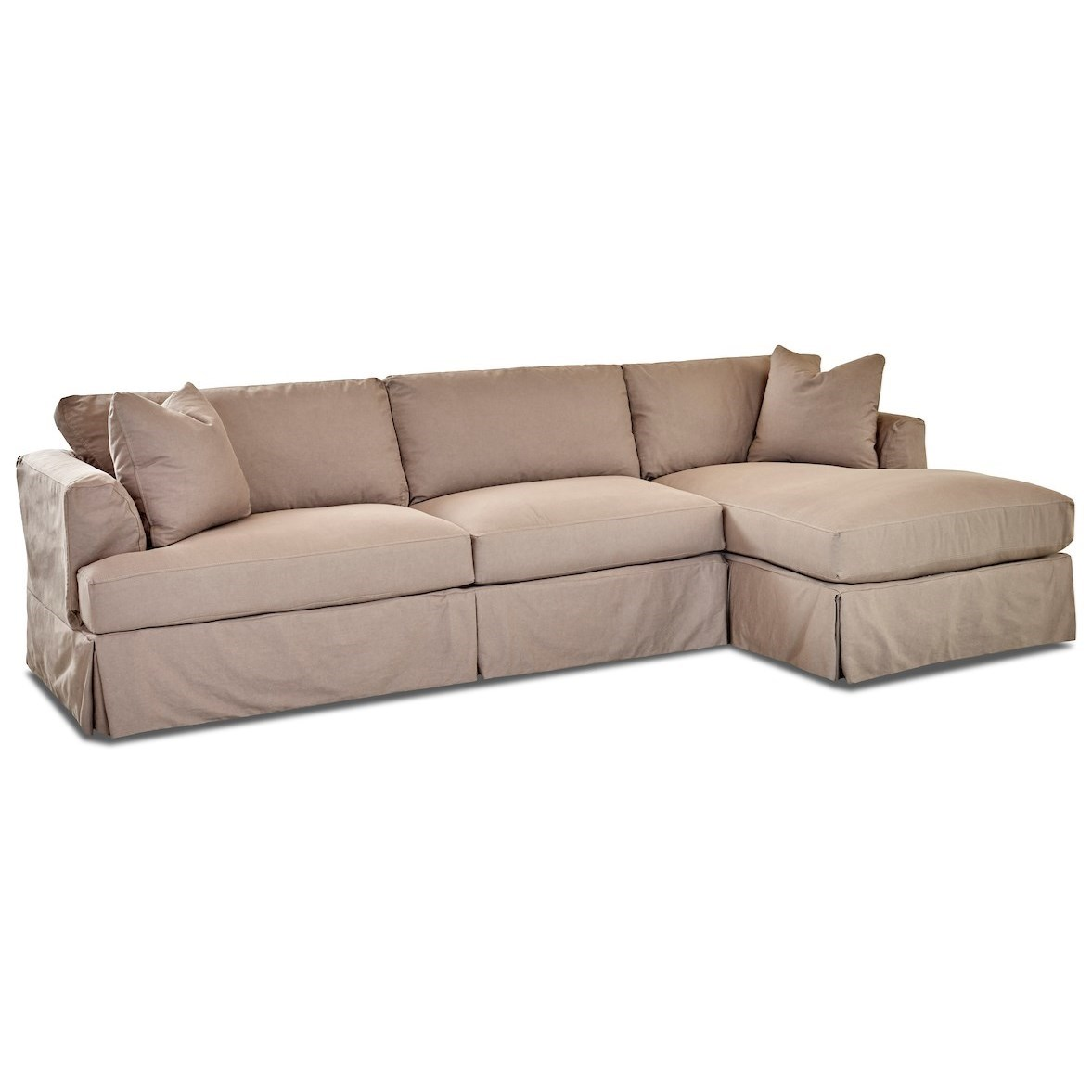 3-Seat Chaise Sofa Sectional w/ RAF Chaise