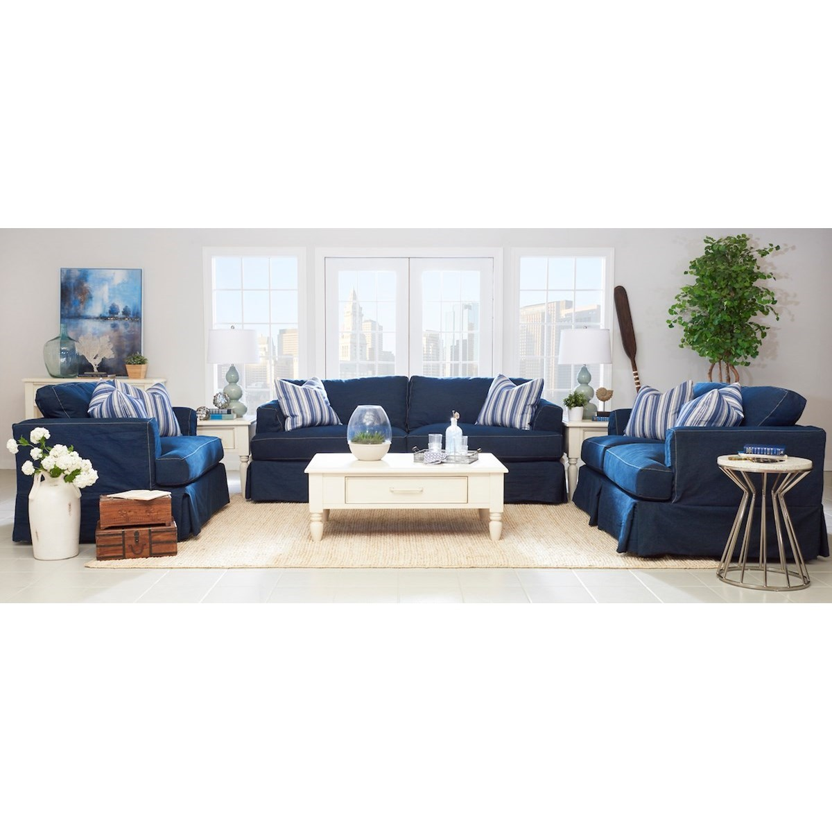 Bentley Living Room Group by Klaussner at Johnny Janosik