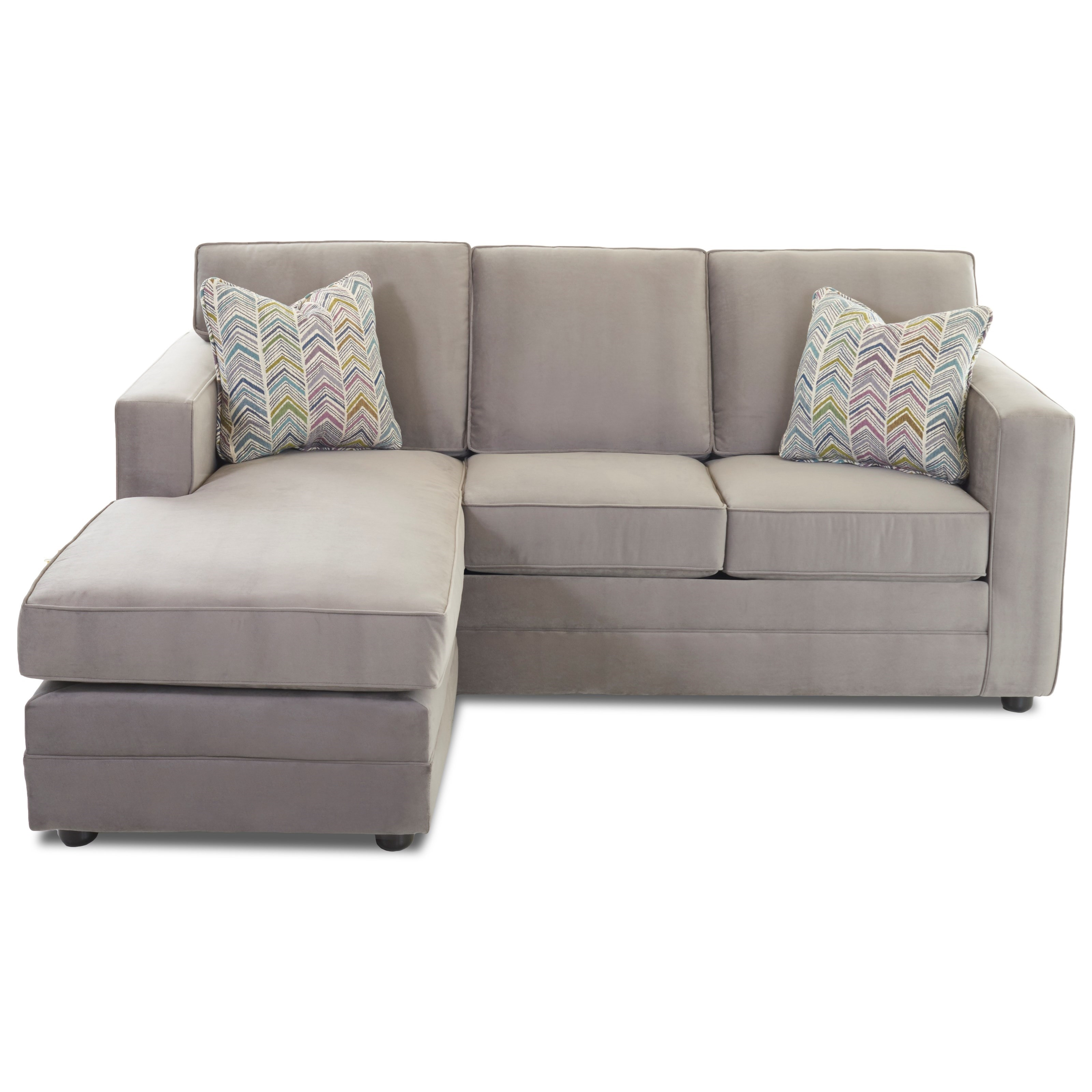 Klaussner Berger Chaise Sleeper Sofa With Queen Size Air Coil