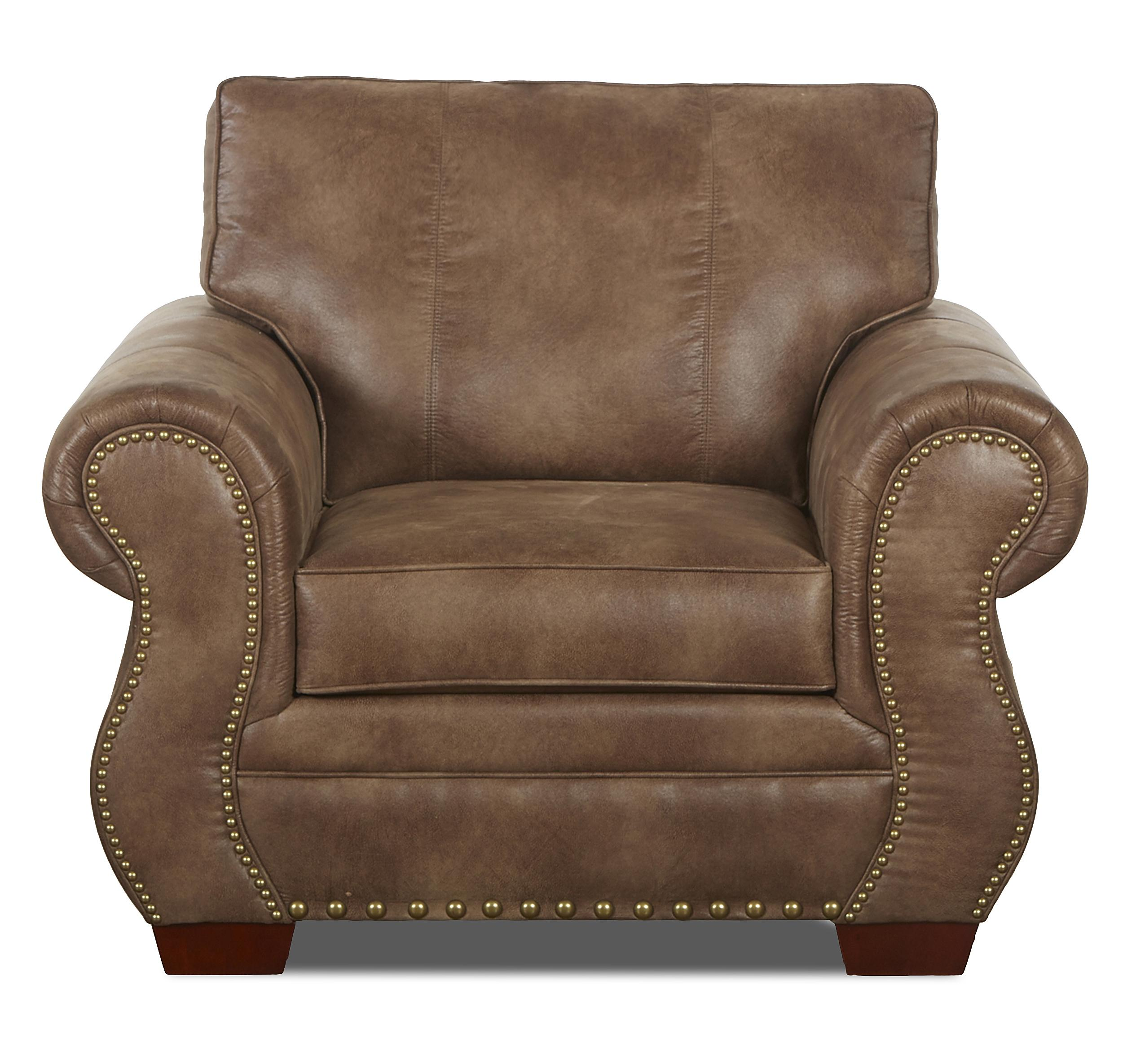 Klaussner Blackburn Traditional Chair - Item Number: K14310 C-PadreTaupe