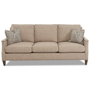 Klaussner Bond Sofa w/ Braided Trim