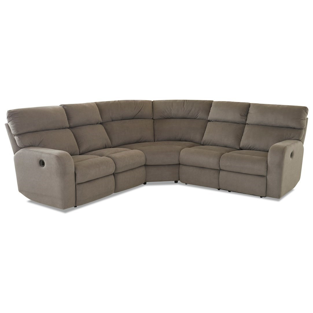 4-Seat Lay Flat Reclining Sectional Sofa