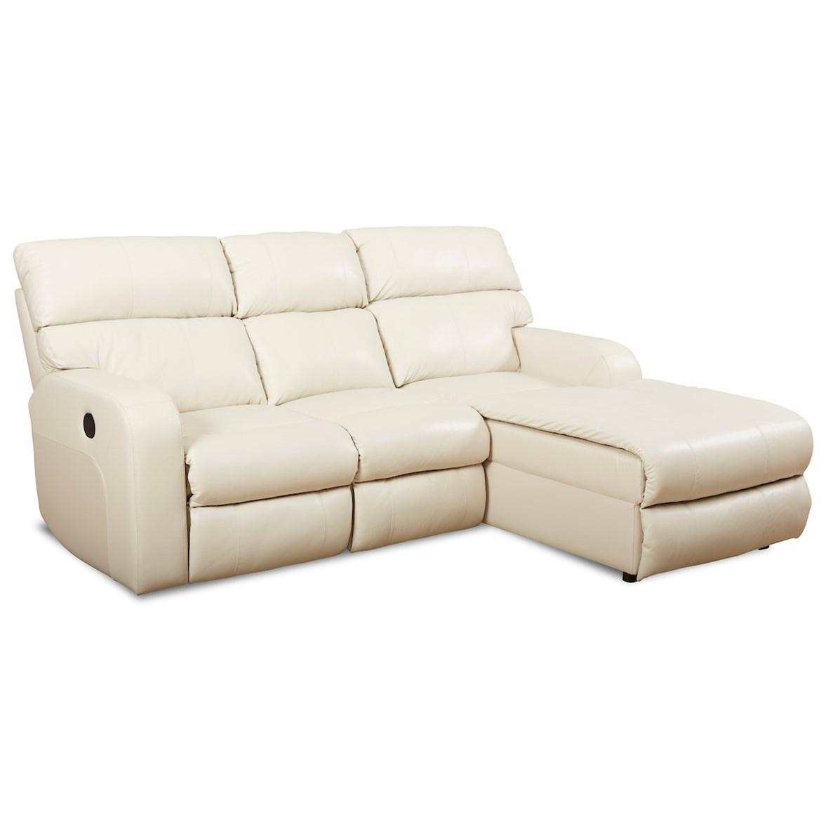 Power Reclining Chaise Sofa w/ RAF Chaise